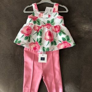 Janie and Jackie 6-12m tank and pink pants